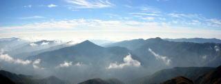 美しい四国の山並み