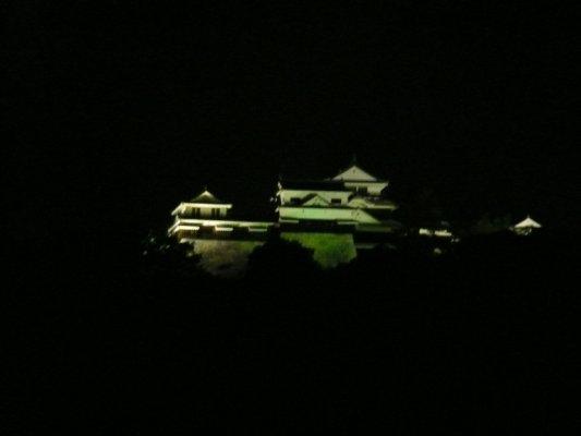 松山城ライトアップ