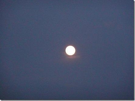 お月様を拝みながら