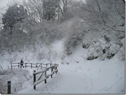 成就社までの雪道