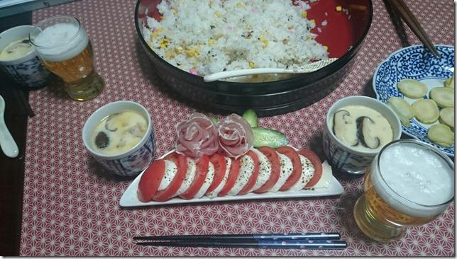 ひな祭りの夕食