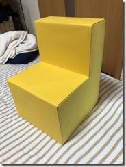 牛乳パックで作った椅子